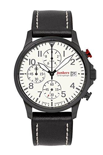 Junkers Herren-Uhren Analog Quarz One Size Kalbsleder 87354768