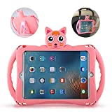 Etoden iPad Air Case with Adjustable Shoulder Strap, Cute Shockproof Silicone Handle Stand Case Cover for iPad 2017/2018 9.7 inch (Apple iPad 5th/6th Gen) and iPad Air