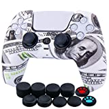 YoRHa Water Transfer Printing Silicone Thickened Cover Skin Case for Sony PS5 Dualsense Controller x...