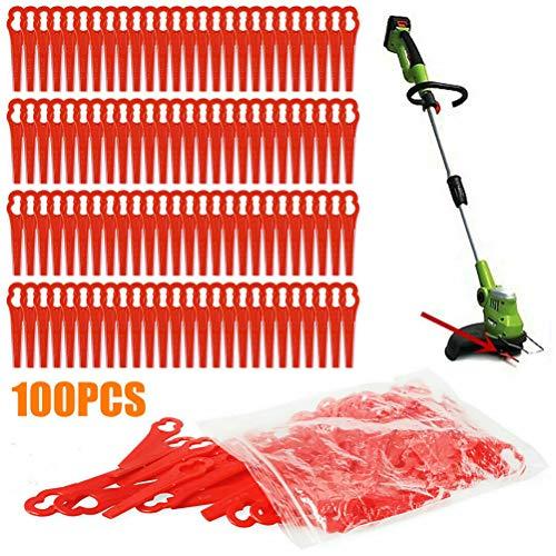Lame da taglio in plastica per tosaerba, set di lame in plastica rossa La taglierina sostituisce per...