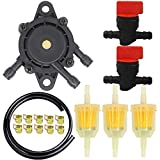 HOOAI 49040-7001 Fuel Pump + 49019-7001 Fuel Filter Fuel Line Shut-Off Valve for Kawasaki FH Series 4-Stroke Engine Lawn Mower Parts
