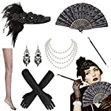 MMTX 1920s Accessoires de Déguisement, Gatsby Flapper Headpiece Charleston...
