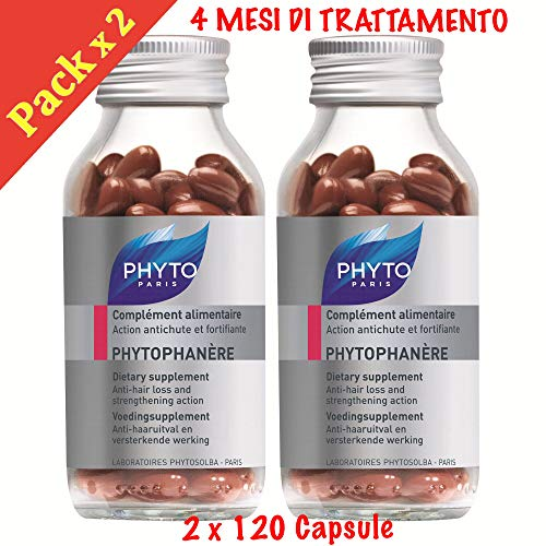 PHYTO Phytophanere Complément alimentaire cheveux et ongles–4mois de traitement–120+ 120gélules