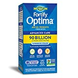 Nature's Way Fortify Optima Colon Support 90 Billion Probiotics MAX Bifidobacteria, 30 Coated Capsules