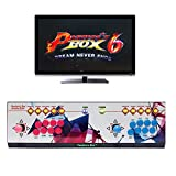 Wisamic Real Pandora's Box 6 Arcade Game Console - Add Additional Games, Support 3D Games with Full HD, Games Classification, Upgraded CPU, Support PS3 PC TV 2 Players, No Games Included (8 Buttons)