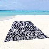 Genovega Beach Mat Waterproof Blanket, No Anti Sand Proof Sandproof Free, Big Large Oversized XL, Magical Pocket Foldable Portable Roll up, Neat Lightweight Sheet, Travel Outdoor Picnic Bottom Boho