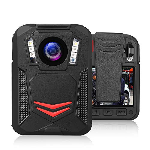 BOBLOV G2A 1440P Body Camera GPS 32G Body Mounted Wearable Camera Auto Night Vision Camera 2 Batteries File Password Protection Latest Amba H22 Chipset(Built-in 32G)