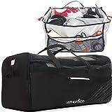 Athletico Hockey Duffle Bag - 35' Large Ice Hockey Duffel XXL Travel Bag for Equipment & Gear, with Included Organizer Caddy (Back)