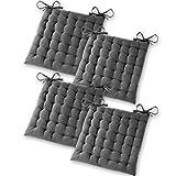 Gräfenstayn® Set de 4 Coussins d'Assise Coussins de Chaise 40x40x5cm pour...