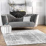 nuLOOM Misty Shades Deedra Area Rug, 5' x 8', Grey, 5 Feet x 8 Feet