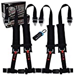4 Point Harness (Pair) With Bypass Plug (Black, 4 Point)