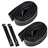 YunSCM 2 Pack 20 Inch Inner Tubes Replacement for 20x1.9/20x1.95/20x2/20x2.10/20x2.125 Schrader Valve MTB Bike Tire/Schrader Valve BMX Bicycle Inner Tubes