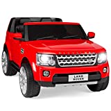 Best Choice Products Kids 12V 2-Seater Licensed Land Rover Ride On w/ RC, Lights/Sounds, MP3, Red