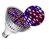 Lmparas de Crecimiento 50W,E27 Bombilla LED de Cultivo de Espectro Completo Para Plantas,Lmpara de Cultivo Para Plantas de Interior Vegetales y Flores Hidropona