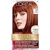 L'Oreal Paris Excellence Creme Permanent Hair Color, 6R Light Auburn, 100 percent Gray Coverage Hair Dye, Pack of 1