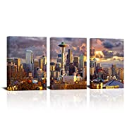 Size:12x16inchx3PCS (30cmx40cmx3PCS).The Size is Customizable. Professional artwork is used for a sharp hi-resolution image. Canvas printed with high resolution by the latest and most advanced color technology has the characteristics of durability, w...