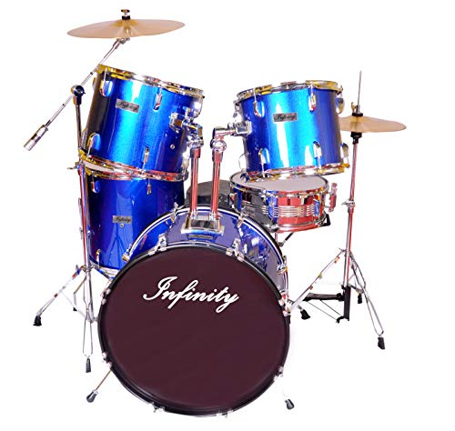Infinity Complete 5-Piece Drums Set With Hardware And Cymbals - Blue