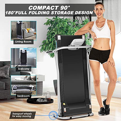 ANCHEER Treadmill, Electric Treadmills for Home with LCD Monitor Walking Running Machine Equipment for Home Gym (Sliver) 3