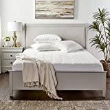 Cooling Mattress Cover for Queen Size Bed - Hotel Quality Ultra Soft, Comfortable Bamboo Topper with Deep Pockets (up to 16 Inches) - Fitted, Bed Bug/Dust Mite Proof Hypoallergenic Protector