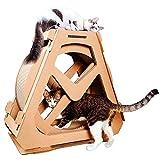 AYLS Chat Planche à gratter Chat Exercice de la Roue de Chat Arbre d'escalade Maison en Cours d'exécution...