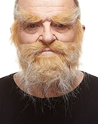 REALISTIC COSTUME ACCESSORY – The look you're looking for! – This natural-size self-adhesive false mustache, beard and eyebrows set is ideal for theatre, drama clubs and cosplay. Or as a party prop or just for having fun. Makes you look great all day...