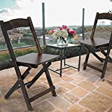 Wildmont Outdoor Patio Furniture, Folding BambooOutdoor Patio Chairs Set of 2, Portable Patio Furniture Sets for Bedroom Living Room Balcony Lawn Yard Garden, Bistro Bamboo Chair Set