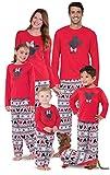 PajamaGram Matching Pajamas for Family - Mickey Mouse Pajamas, Red, Men's, L