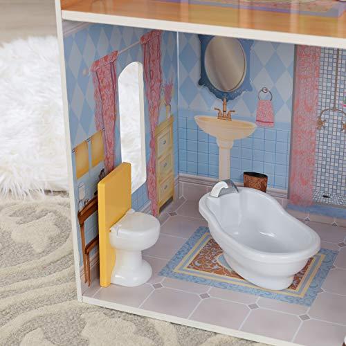 Image 7 - Kidkraft - 65023 - Maison de Poupées en Bois Savannah Incluant Accessoires et Mobilier, 4 Étages de Jeu pour Poupées 30 cm