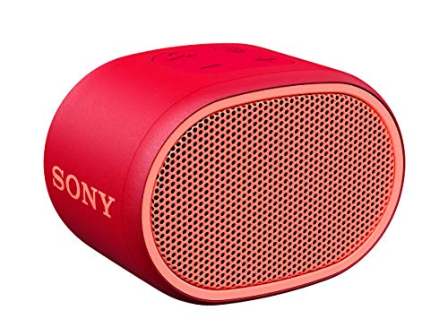SRS-XB01 Speaker Wireless Portatile con Extra Bass, Resistente all'Acqua, Bluetooth, Rosso