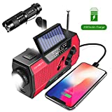 Emergency Weather Radio,Omew Portable Solar Hand Crank NOAA Weather Radio with AM/FM, LED Lamp, 2000mAh Power Bank Phone Charger, SOS Alarm and Waterproof Handheld Flashlight