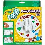 Crayola Pets - Set Crea l'Impronta, per trasformare l'impronta della zampina del tuo animale domestico in un oggetto decorativo da conservare per sempre, forma cerchio, 57-0202