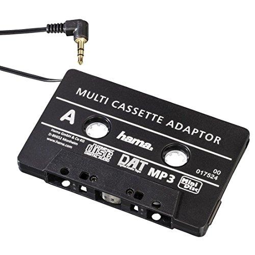 Hama Cassetta Adattatore da Auto, Jack 3.5 mm, M, Nero