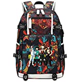 GOYING My Hero Academia Midoriya Izuku/bakugou Katsuki Anime Laptop Backpack Bag Travel Laptop Daypacks Bolso Ligero con USB-D