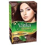 Vatika Henna Natural Brown Hair Color Ammonia Free (60 g / 2.11 oz)