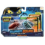 Swarm Squad Double Pack Set – Contains Two Hyper-Realistic Motorized Bug Toys That are Ready to Prank (Cockroach vs. Longhorn Beetle), Multi