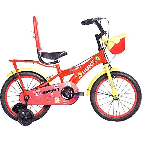 Hero  Brat 16T Single Speed  Kids' Bike (Red, Ideal For : 5 to 6 Years )