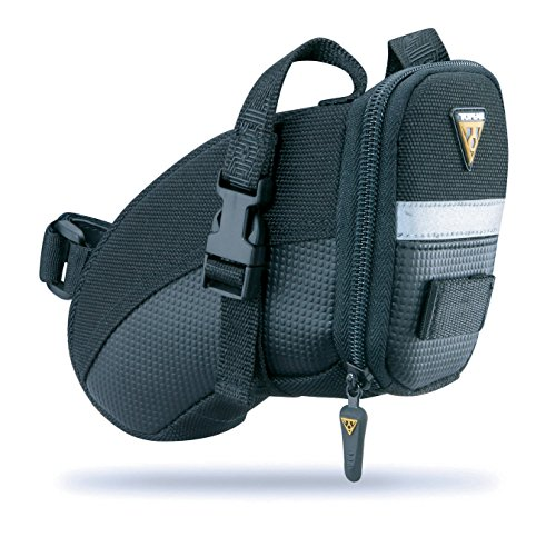 Topeak Aero Wedge Pack Saddle Bag, Strap Fit, Medium, Black