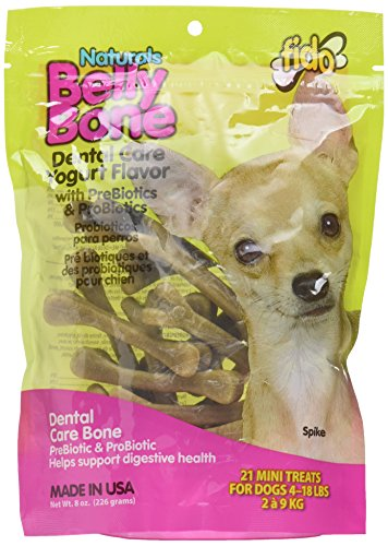 Fido Belly Bone Yogurt Dog Bone - Mini 21 Pack