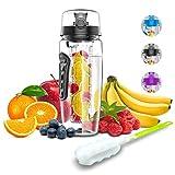 Babacom Bouteille d'eau avec infuseur à Fruits 1L Fabriquée en Tritan sans BPA,Gourde Sport...