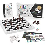 Fun Family Chess Set for Kids & Adults - Wooden Board Game for Learning Chess