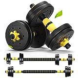 MontSprit Weights Dumbbells Set Adjustable Dumbells Barbell Set of 2, Weights for Exercises 20lb/30lb/40lb (20lb (10lb x 2))