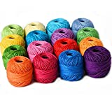 Thread Floss Sewing Soft 10g Cotton Balls Rainbow Colors of Size 8...