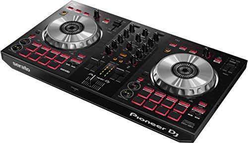 Pioneer DJ  Controller DJ a 2 canali per Serato DJ Lite  Mixer  Accessorio per DJ  Pad Scratch  Due grandi Piatti in Alluminio