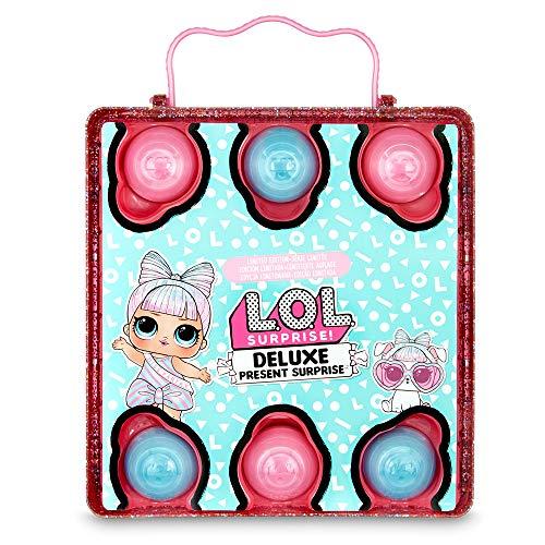 Image 1 - L.O.L. Surprise, Deluxe Present Surprise - coffret avec cadeau effervescent, 1 Poupée 8 cm et 1 Pets 6 cm édition limitée, accessoires, Modèles aléatoires , jouet pour enfants dès 3 ans, LLUD7
