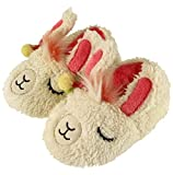 FREE 2 DREAM Slippers for Toddler and Kids, Unicorn, Llama, Blue Monster, Bear Claw, Pug, Indoor Outdoor Bottom, Soft Plush, Size 9/10