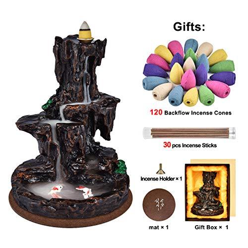 Backflow Incense Burner Waterfall Fountain
