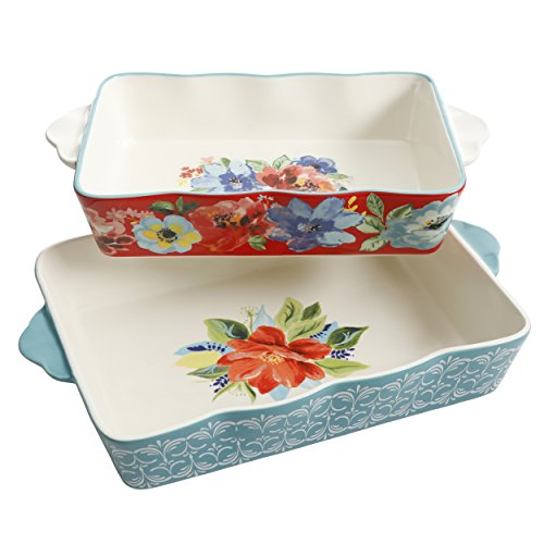 The Pioneer Woman Baking Dish Spring Bouquet 2-Piece Baker Set Floral