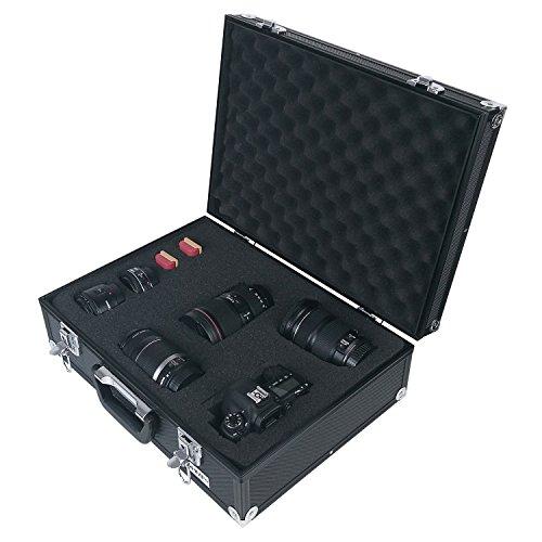 HMF 14501-02 Valigetta per Fotocamera in Alluminio, Custodia per Pistole con Schiuma Raster | 46 x...