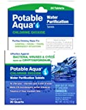 Potable Aqua Chlorine Dioxide Water Purification Tablets - 30 Count