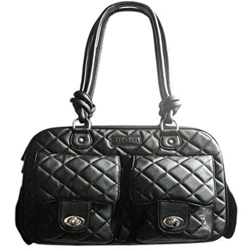 Backbone Sherpa Series Soft Leather Pet Carrier, Black